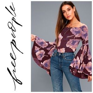 NEW Free People Paradise Bell Sleeve Blouse